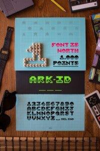 """Graphic design: lo specimen per il font """"ARK-ID"""""""